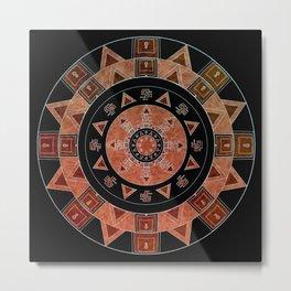 ethnic circle Metal Print