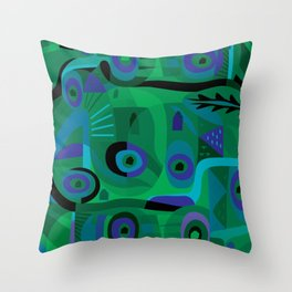 Cabins in the Sea Throw Pillow
