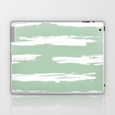 Swipe Stripe White on Pastel Cactus Green Laptop & iPad Skin