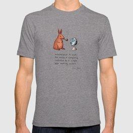 Pipe-smoking rabbit T-shirt
