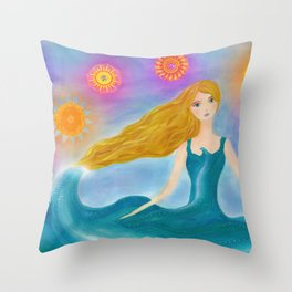 Sea and Sun Throw Pillow