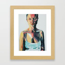 Portrait of Danielle Jacobson Framed Art Print
