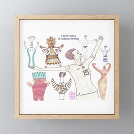 A Brief History of Goddess-Athletes Framed Mini Art Print