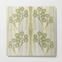 Branch Leaf Metal Print