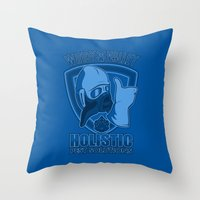 nausicaa Throw Pillows featuring Windy Valley Holistic Pest Solutions by adho1982