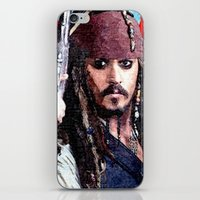 jack sparrow iPhone & iPod Skins featuring Jack Sparrow by Brian Raggatt