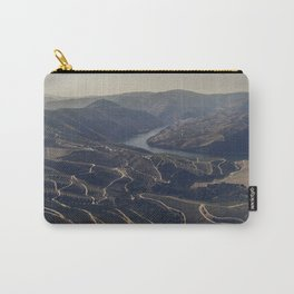 Mountain Valley Vineyards - Aerial Landscape Douro Portugal Travel photography by Ingrid Beddoes Carry-All Pouch