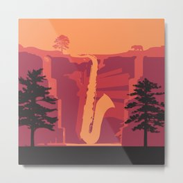 Music Mountains No. 2 Metal Print