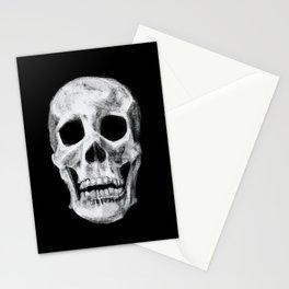 Skull on Black Stationery Cards
