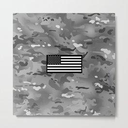 U.S. Flag: Urban Camouflage Metal Print
