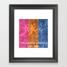 The world is umlimited. I am free... Framed Art Print