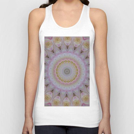 Mandala Of Yellow Roses Unisex Tank Top