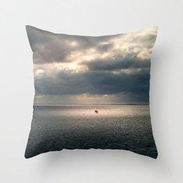 On the sea Throw Pillow