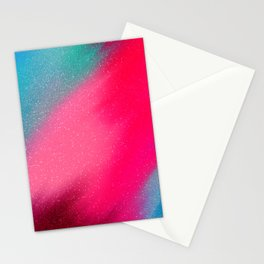 Abstract pink aqua teal glitter watercolor brush strokes Stationery Cards