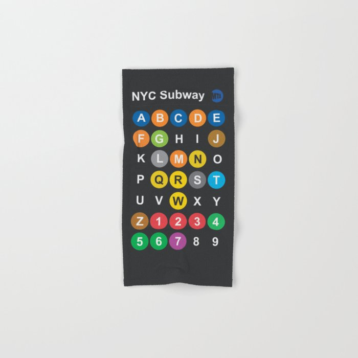New York City subway alphabet map NYC lettering illustration