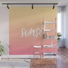 Sunset Wall Mural