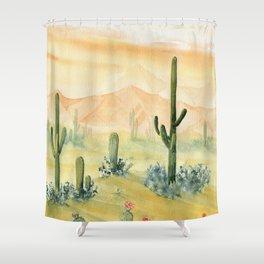 Desert Sunset Landscape Shower Curtain