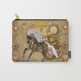 Wonderful steampunk horse with white mane Carry-All Pouch