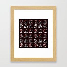 3x3 Head Monster Cover Framed Art Print