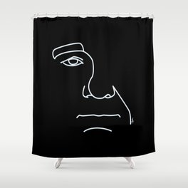 Bill Murray - Black and White Shower Curtain