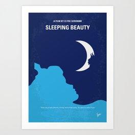 No1017 My Sleeping minimal movie poster Art Print