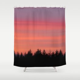 Fire Sky Over The Forest - 76/365 Shower Curtain