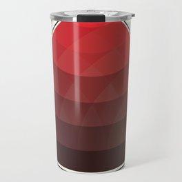 Le Rouge-Orangé (ses diverses nuances combinées avec le noir) Remake (Interpretation), no text Travel Mug