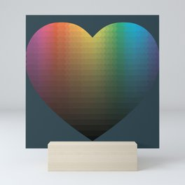 Rainbow Hearts Mini Art Print