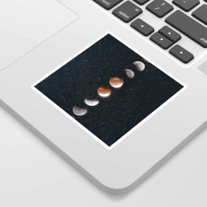 Phases of the Moon II Sticker