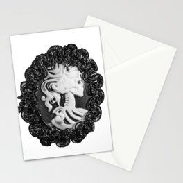 Steampunk Lady Skull Stationery Cards