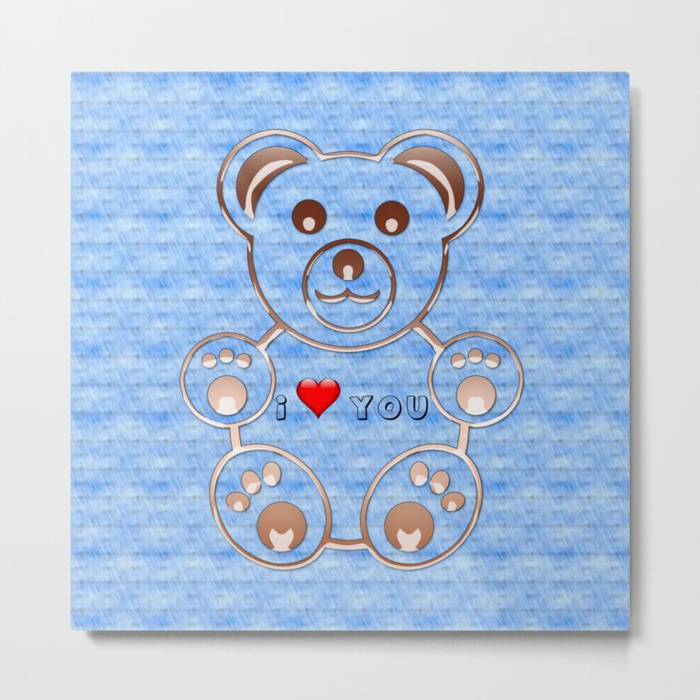 Teddy Bear I Love You Metal Print by Cesartorres MTP8414416