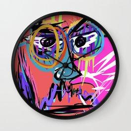 Digital self portrait by Nacho Dung Wall Clock