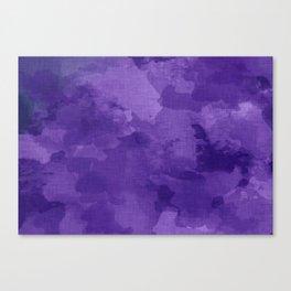 amethyst watercolor abstract Canvas Print