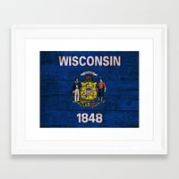 wisconsin Framed Art Prints featuring Wisconsin by C Liza B