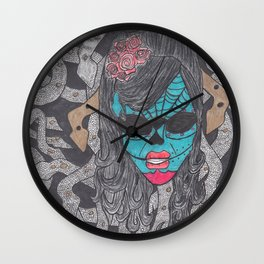 Day of the Dead Medusa Wall Clock