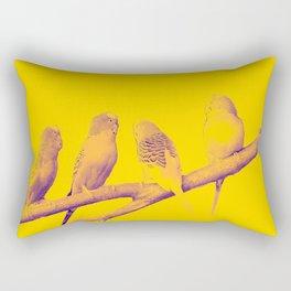 Four Little Birds Rectangular Pillow