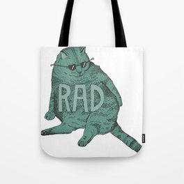 Rad Cat Tote Bag