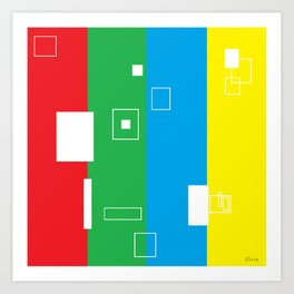 Simple Color Primary Colors Art Print
