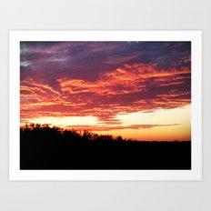Good Night Sun Art Print