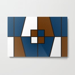 Color Block_Gentleman Metal Print