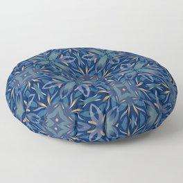Modern Blue Mandala Floor Pillow
