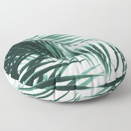 Palm Leaves Green Vibes #8 #tropical #decor #art #society6 Floor Pillow