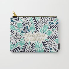 Adventure is Calling – Navy & Mint Palette Carry-All Pouch