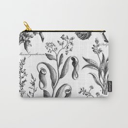 Antique Nepenthes and Drosera Print from 1757 Carry-All Pouch