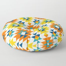 Native American colorful traditional navajo pattern Floor Pillow