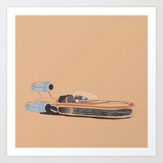 X-34 Landspeeder Art Print