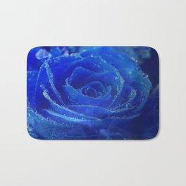 Blue Rose and Sky Bath Mat
