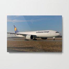 Lufthansa Cargo 777 Metal Print
