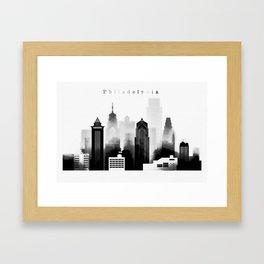 Philadelphia graphic work Framed Art Print