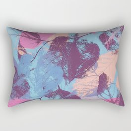 Colorful abstract leaves 1 Rectangular Pillow